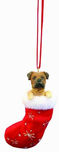 Mastiff Ornaments - Bull Mastiff Christmas Stocking Ornament with