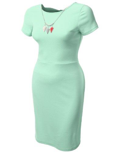 J.TOMSON PLUS Womens Short Sleeve Fitted Dress Plus Size MINT XX-LARGE