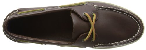 Sperry A/O 2-Eye Leather 0195214 - Mocasines de cuero para hombre Marrón (Classic Brown)