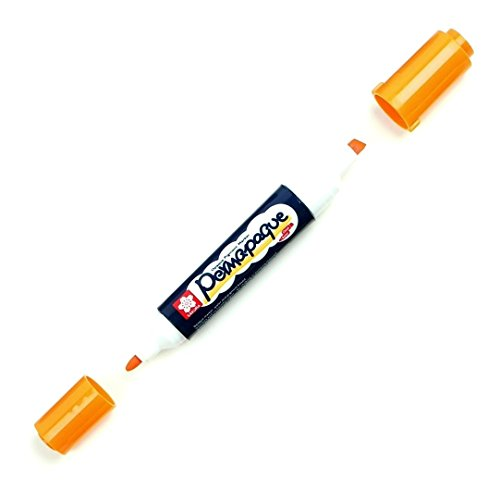 Permapaque Paint Marker Dual Point 1/Pkg-Orange