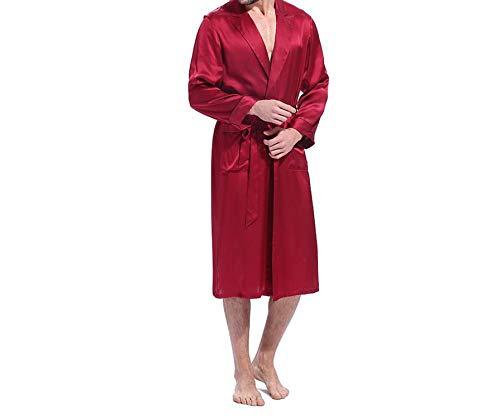 UomoVestaglia Con Lusso Smilesi Blue Tasche Maniche Uomo Di Notte Kimono Lunga Navy Da A Design In Classico Lunghe Manica Camicia pqzMSUV