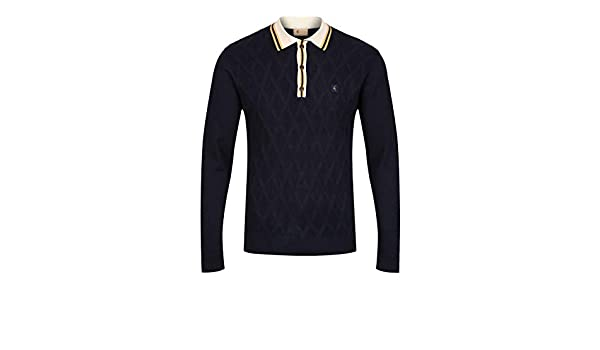 Gabicci Bretton Long Sleeve Polo Shirt | Navy: Amazon.es: Ropa y ...