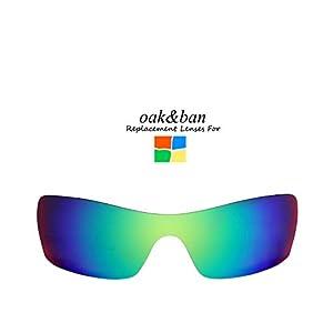 Oak&ban Polarized Replacement Lenses for Oakley Batwolf Sunglass-Multi Options
