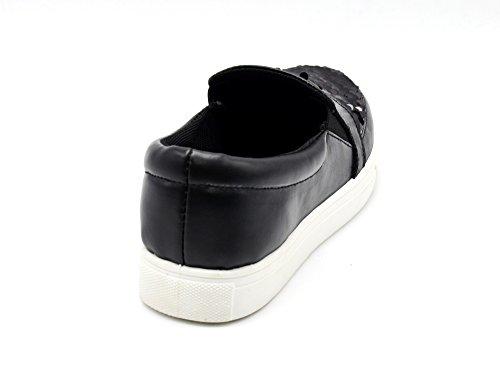 Slip Compensée on avec Vernis Et Sneakers Mode Cuir Shop Sequins Simili SHY28 My Oh Baskets Semelle Brillants Femme Tennis 6vwYqR0aP