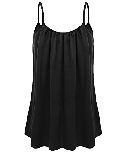 7th Element Womens Plus Size Cami Basic Camisole Tank Top (Black,4XL) by 7th Element (Image #2)