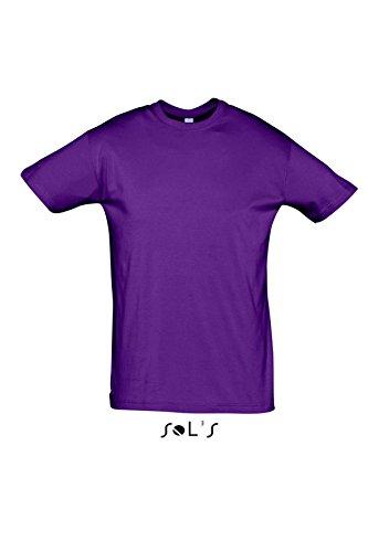 Sols - Regent - Unisex Rundhals T-Shirt , Dark Purple , XL