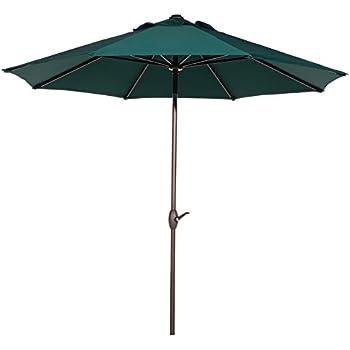 Nice Abba Patio 11 Feet Outdoor Market Umbrella With Push Button Tilt And Crank,  8