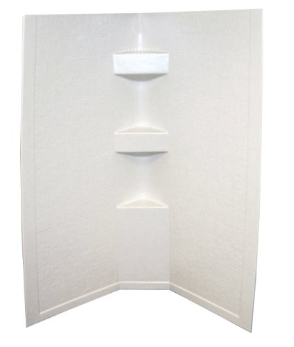 Lippert 306201 Better Bath 34'' x 34'' x 68'' Neo Angle RV Shower Surround Parchment by Lippert Components