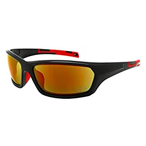 Edge I-Wear Sports Safety Sunglasses ANSI Z87+ Color Mirror Lens 570103/REV-1(BLK+R.r)