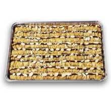 Athens Foods Chocolate Almond Roll Baklava - Dessert - 45 per case.