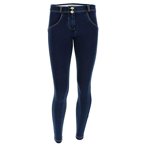 Pantalón up® Medium Oscuro Superskinny De Blancas Regular Denim 8 Oscuro Efecto Jeans Talle Wr Punto costuras 7 rgw5qrT