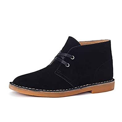 2019 New Arrival Men Boots Oxfords for Men Desert Chukka Boots Shoes Suede Leather Upper Lace Up Wear Resistant Classic Comfortable (Color : Black, Size : 5.5 UK)