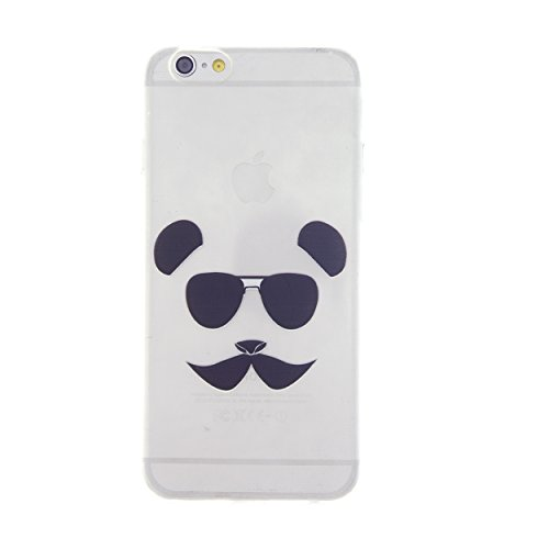 CaseBee® - Sunglasses Panda with Moustache Print iPhone 6 (4.7) Case - Perfect Gift (Package includes Screen Protector)