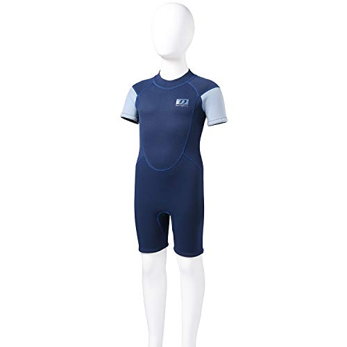 Dark Lightning 3/2mm Youth Boys Wetsuit, Kids Neoprene Thermal Shorty Suit, Spring Suit for Scuba Diving, Snorkeling, Surfing, Paddle Swimsuit (Size 8)