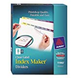 Index Maker Clear Label Contemporary Color Dividers, 8-Tab, 25 Sets/box By: Avery