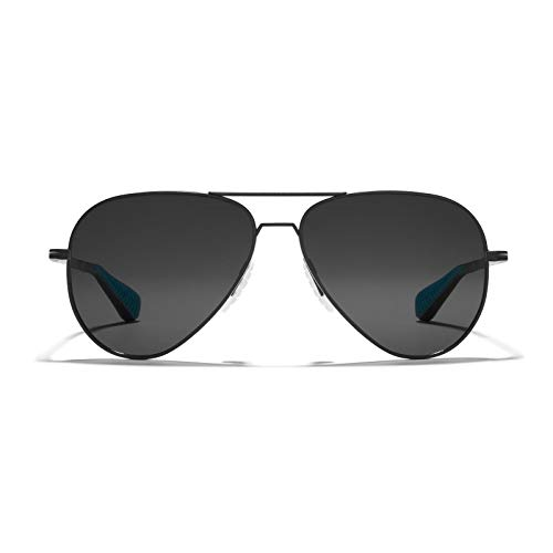bfab9557ff3 ROKA Phantom Ti Performance Polarized Aviator Sunglasses for Men and Women  - Matte Black Frame - Carbon Polarized Lens - 57