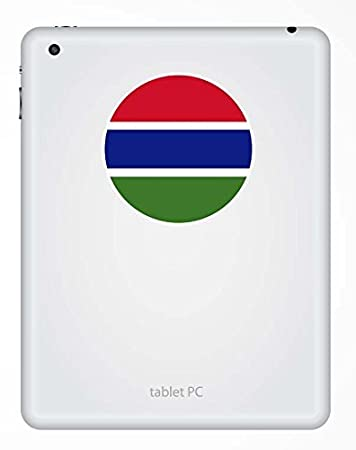 """/""""3x4/"""" Gambia Sticker Decal Gambia Flag"""