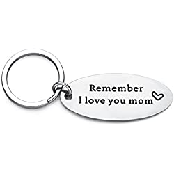 Udobuy Remember I Love You Mom Keychain from Daughter Or Son For Mother's Day Gifts,Mother's birthday