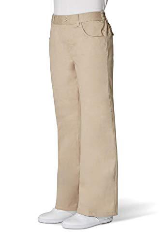 French Toast Big Girls' Adjustable Waist Flat Front Bootcut Pant, Khaki, 8 ()
