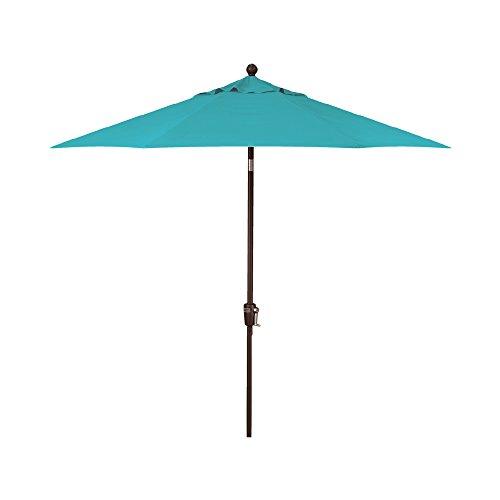 (Treasure Garden 9-Foot (Model 810) Deluxe Auto-Tilt Market Umbrella with Bronze Frame and Obravia2 Fabric:)