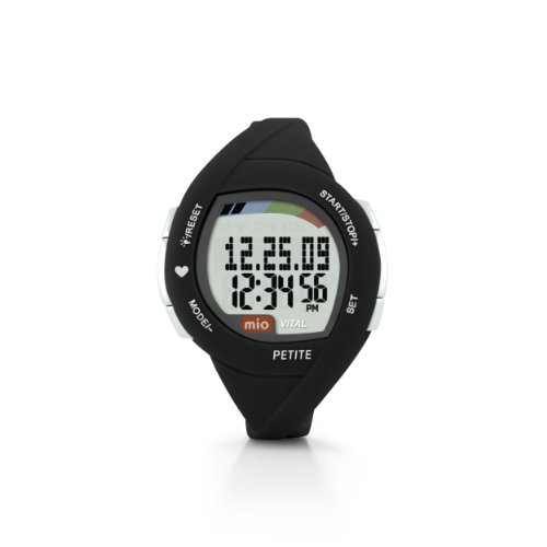 Mio Vital Petite Heart Rate Watch (Black with Blue Accent) (Heart Rate Monitor Watch Petite)