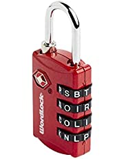Korjo Luggage Lock, 3 Centimeters, Red