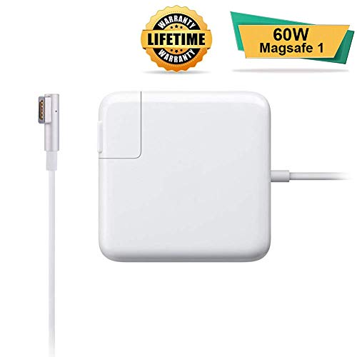 Charger Compatible for MacBook Pro, Replacement Charger 60W 1st-Gen Magnetic L-Tip MacBook AC Power Adapter fit for MacBook MacBook Pro 13inch&15inch Before Mid-2012