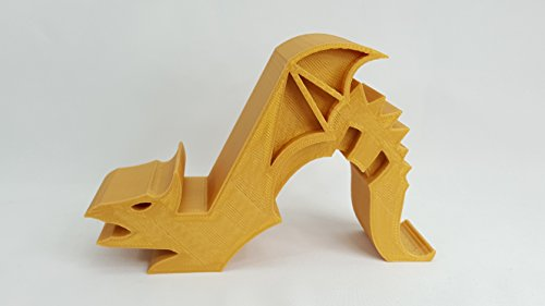 Dragon Tablet/Cell Phone Holder (Game of Thones Inspired) (TABLET, GOLD) by 3D Cauldron