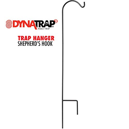 DynaTrap Adjustable Shepherd's Hook for Outdoor Insect Traps, Black -