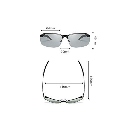 Vision frame LSX polarisées conduite équitation vision Lens night métallisé Lunettes Gray de Gray vision Frame LX Night hommes lunettes nocturne Couleur lens de soleil B7ZdZq