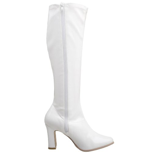 Funtasma by Pleaser Women's Kiki-350 Boot White Stretch Patent b0oHr