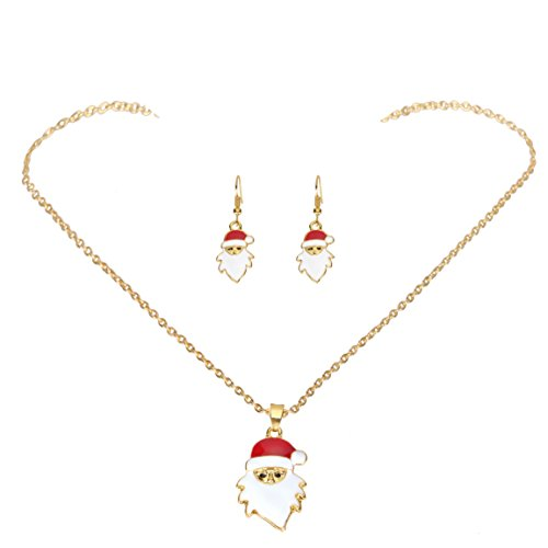 iWenSheng Christmas Jewelry Necklace Earrings