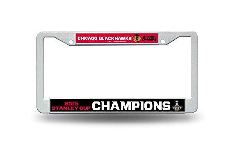 Chicago Blackhawks 2015 Stanley Cup Champions Plastic Car Frame- 9736