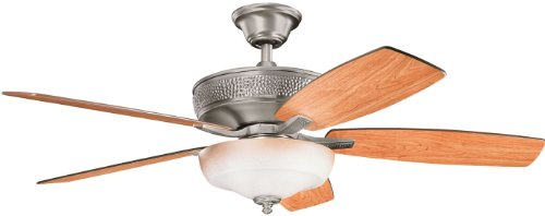 Kichler 339213BAP 52-Inch Monarch II Select Fan, Burnished Antique Pewter
