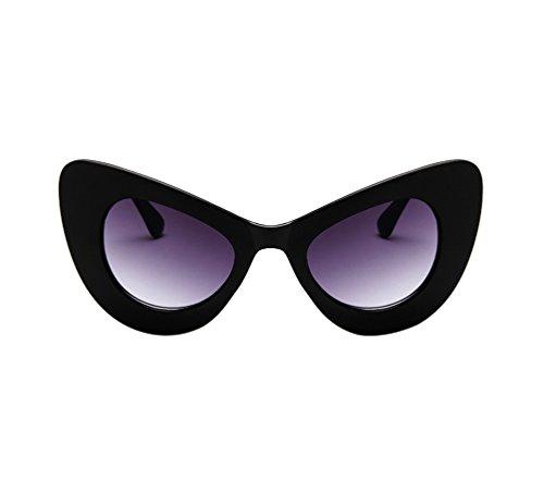 Tendance À 2 Mode Eye Lunettes Cadre Papillon De Soleil Cat Sauvage Femme Noir Ketamyy Lunette La Cadre Vue Gris 58wZxPtn