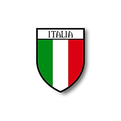 Akachafactory Autocollant Sticker Voiture Moto Blason Ville Drapeau Italie Italien