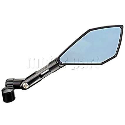 Color: Black Fincos Rearview Mirrors for Yamaha MT-07 MT-09 MT 07 09 FZ-07 FZ1 FZ6 FZ8 CNC Aluminum Mirror Motorcycle Scooter Accessories