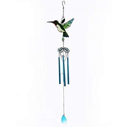 WEISIPU Garden Hummingbird Wind Chimes - Portable Metal Garden WindChimes for Home Garden Decoration (Tube)