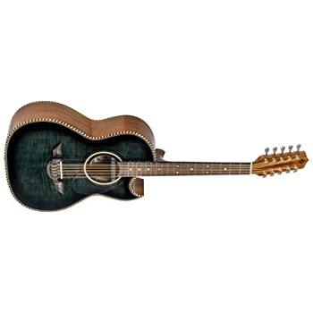 H. Jimenez El Estandar El Estandar Acoustic-Electric Bajo Quinto Black Flame Maple