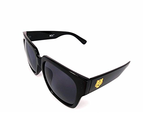 Designer Tiger Head Oversized Sunglasses by BZLStudio. Celebrity Style and Fashion. UV400; Unisex. FREE Case (Black, - Men Sunglasses Celebrity