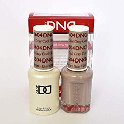 DND DAISY GEL UV NAIL POLISH - DUO SET(Gel + Lacquer) 604 - Cool Gray