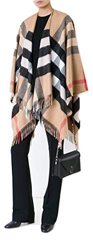 Burberry Classic Check Cashmere Poncho Cape from BURBERRY