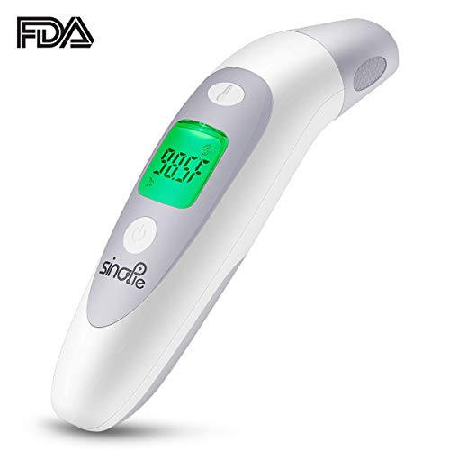 (SinoPie Forehead Thermometer Non-Contact, Medical Ear Thermometer, Digital Infrared Thermometer for Kids, Infant, Baby and Adults -Upgraded Fever Scan Lens Technology for Better Accuracy, 2018 New)