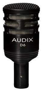 - Audix D6 Dynamic Microphone, Cardioid