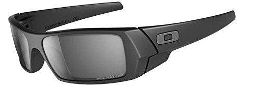 Oakley Men's Gascan Sunglasses (Matte Black Frame Polarized Black Mirror Lens) by Oakley