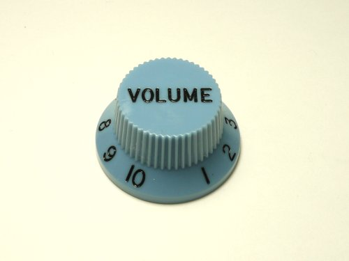 MIJ Colored Volume Knobs for Stratocaster inch (Blue)