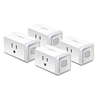 Kasa Smart Plug by TP-Link, Smart Home WiFi Outlet Works with Alexa, Echo, Google Home&IFTTT,No Hub Required, Remote Control,12 Amp, UL Certified, 4-Pack (HS103P4)