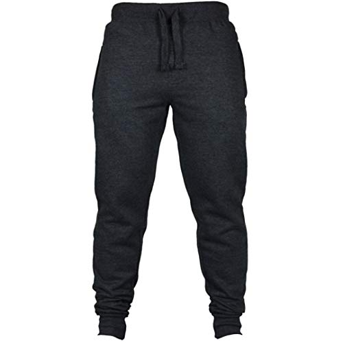 Price comparison product image Muranba Clearance Men's Solid Casual Drawstring Joggers Sweatpants