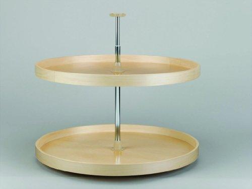 32in Full Circle Banded Wood Lazy Susan 2-shelf (Diameter Wood Shelf)