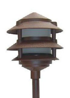 Low Voltage Landscape Light 3 Tier Pagoda